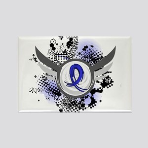 Histiocytosis Grunge Ribbon Wings Rectangle Magnet