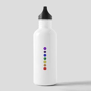 Chakras-7-vert Water Bottle