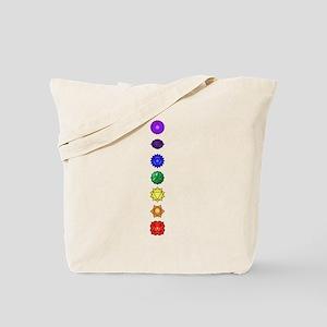 Chakras-7-vert Tote Bag