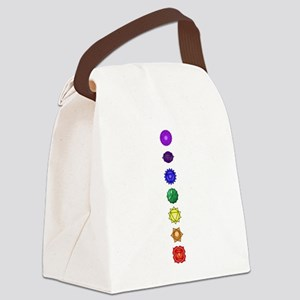 Chakras-7-vert Canvas Lunch Bag