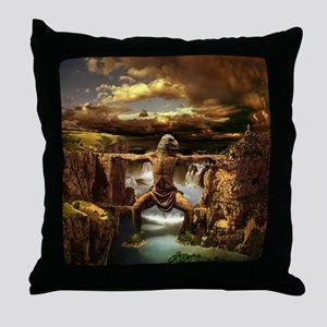 Mithycal Mountains Throw Pillow