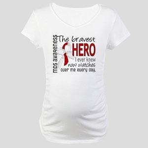 MDS Bravest Hero Maternity T-Shirt