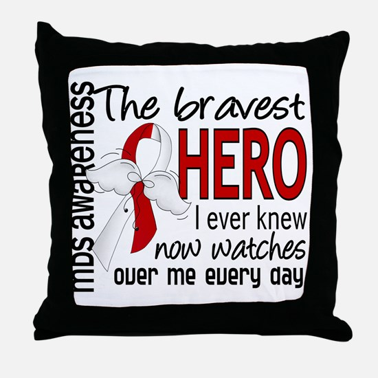 MDS Bravest Hero Throw Pillow