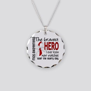 MDS Bravest Hero Necklace Circle Charm