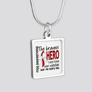 MDS Bravest Hero Silver Square Necklace