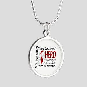 MDS Bravest Hero Silver Round Necklace