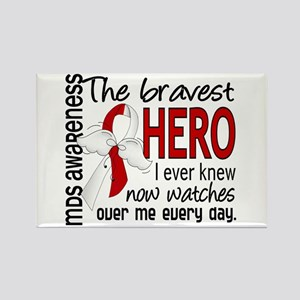 MDS Bravest Hero Rectangle Magnet