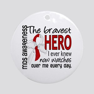 MDS Bravest Hero Ornament (Round)