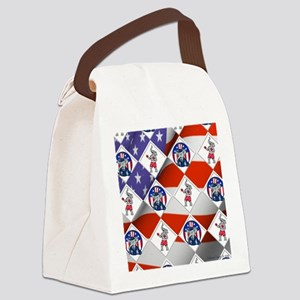 Republican Elephant Boxing Champ Canvas Lunch Bag