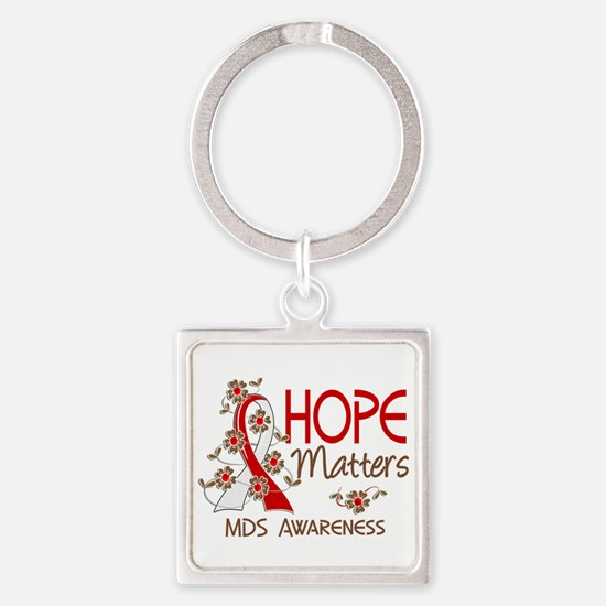 MDS Hope Matters 3 Square Keychain