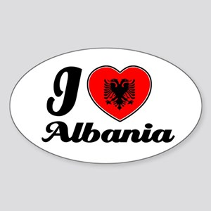 I love Albania Oval Sticker