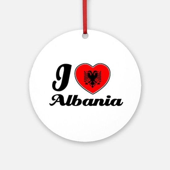 I love Albania Ornament (Round)