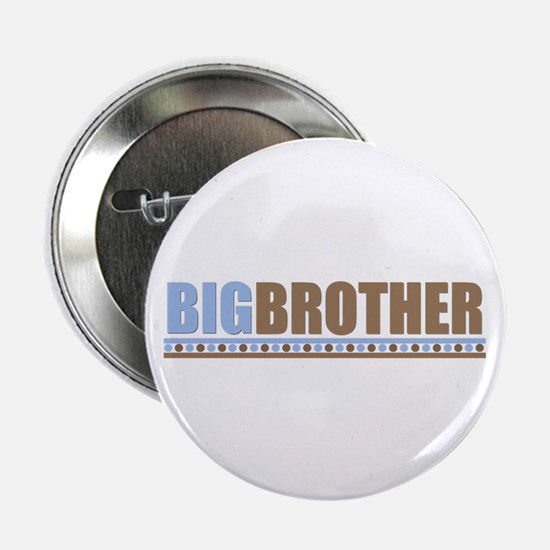 big brother brown/blue Button