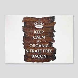 Keep Calm Organic Bacon 5'x7'Area Rug
