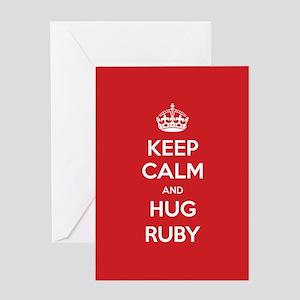 Hug Ruby Greeting Cards