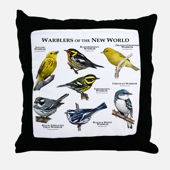 Warblers of the New World Throw Pillow