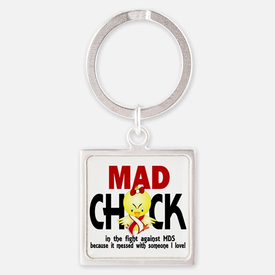 MDS Mad Chick 1 Square Keychain