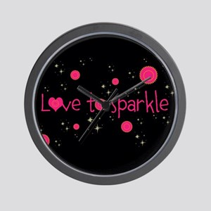 Trendy LOVE TO SPARKLE! Wall Clock