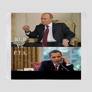 putin-obama Throw Blanket