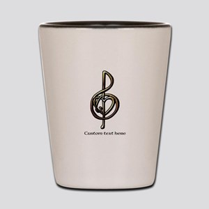 Music Treble Clef Embossed Look Customi Shot Glass