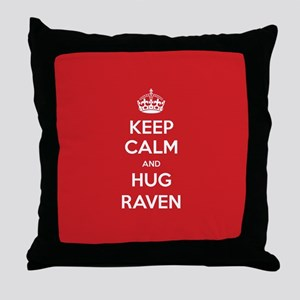 Hug Raven Throw Pillow