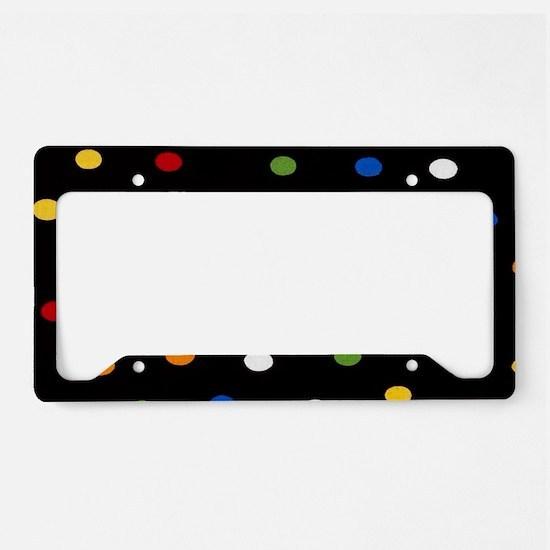 Black Disco Dots License Plate Holder