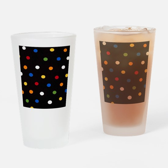 Black Disco Dots Drinking Glass