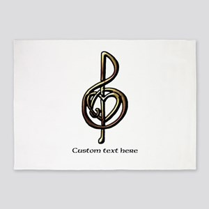 Personalized Music Treble Clef Meta 5'x7'Area Rug