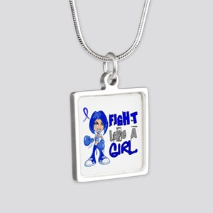 Histiocytosis FLAG 42.8 Silver Square Necklace