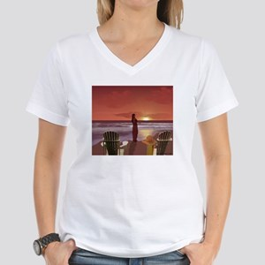 She's Like The Wind Women's V-Neck T-Shirt