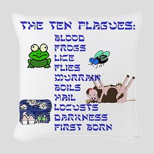 The Ten Plagues Woven Throw Pillow