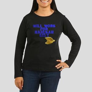 Will work for Han Women's Long Sleeve Dark T-Shirt