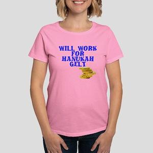 Will work for Hanukah getl Women's Dark T-Shirt