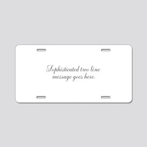 Sophisticated Text Aluminum License Plate