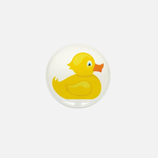 Squeaky Duck Mini Button