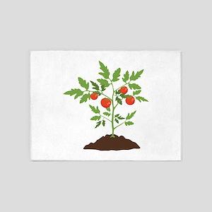 Tomato Plant 5'x7'Area Rug