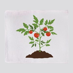 Tomato Plant Throw Blanket