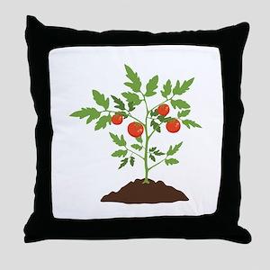 Tomato Plant Throw Pillow
