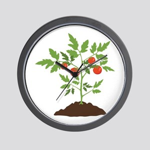 Tomato Plant Wall Clock