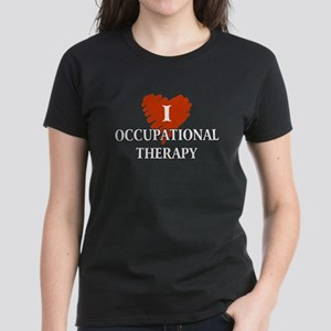 I Love Occupational Therapy Women's Dark T-Shirt