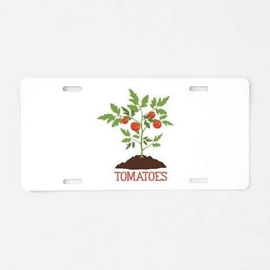 TOMATOES Aluminum License Plate