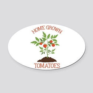 HOME GROWN TOMATOES Oval Car Magnet