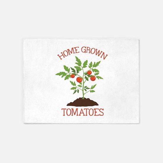 HOME GROWN TOMATOES 5'x7'Area Rug