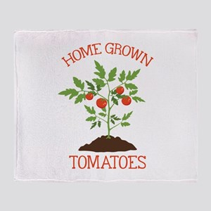 HOME GROWN TOMATOES Throw Blanket