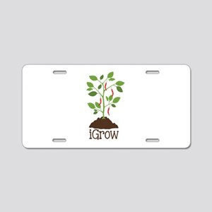 iGrow Aluminum License Plate