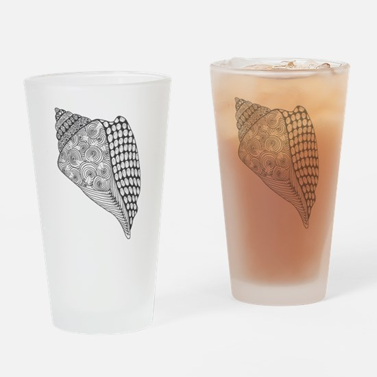 Unique Conch Shell Black and White  Drinking Glass