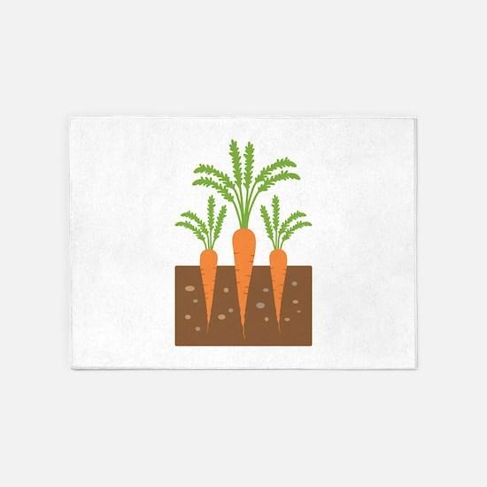 Carrot Plants 5'x7'Area Rug