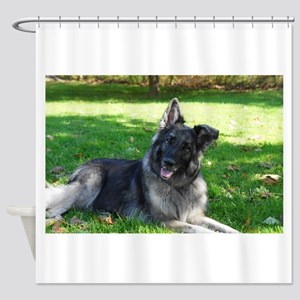 Kimber smiling pretty Shower Curtain