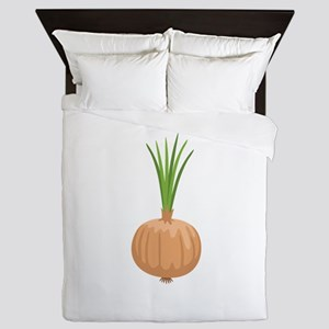 Onion with Leaves Queen Duvet
