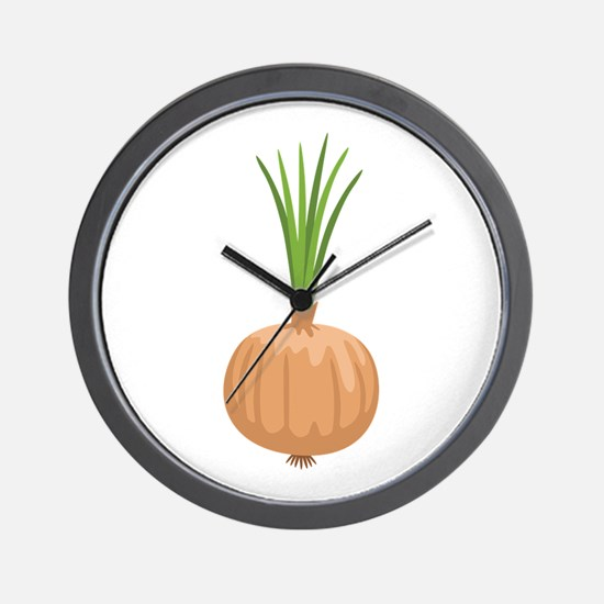 Onion with Leaves Wall Clock